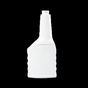 12 oz. White PVC Plastic Grip Offset Oblong Automotive Bottle, 22-400