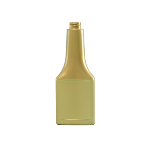 8 oz. Gold PVC Plastic Octane Oblong Automotive Bottle, 22-400