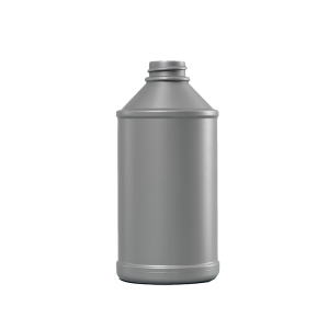 12 oz. Silver HDPE Plastic Modern Round Automotive Bottle, 24-410