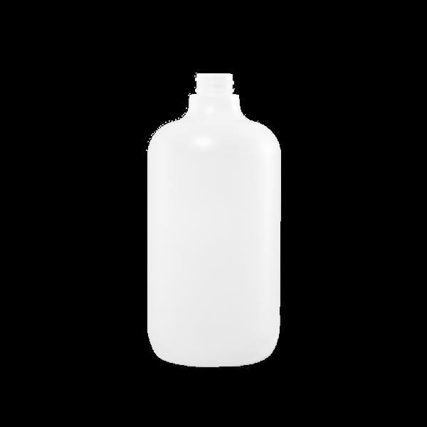 32 oz Natural Plastic Boston Round Bottle, 28-400