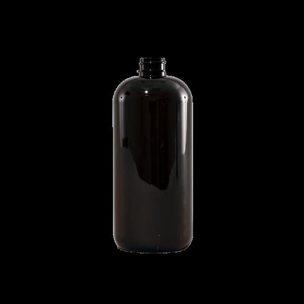 16 oz Amber PET Plastic Boston Round Bottle, 24-400