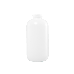 8 oz Natural HDPE Plastic Boston Round Bottle, 24-400