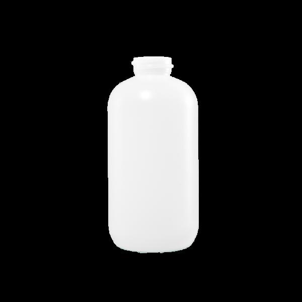 8 oz Natural HDPE Plastic Boston Round Bottle, 24-400
