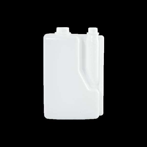2 Liter Natural HDPE Plastic Bettix Twin Neck Bottle