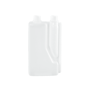 1 Liter Natural HDPE Plastic Bettix Twin Neck Bottle