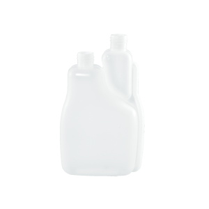 32 oz Natural HDPE Plastic Bettix Twin Neck Bottle 1