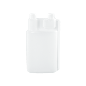 32 oz Natural HDPE Plastic Bettix Twin Neck Bottle 2