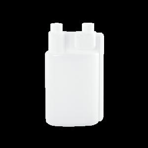 32 oz Natural HDPE Plastic Bettix Twin Neck Bottle 2