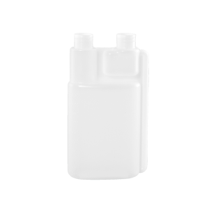 16 oz Natural HDPE Plastic Bettix Twin Neck Bottle