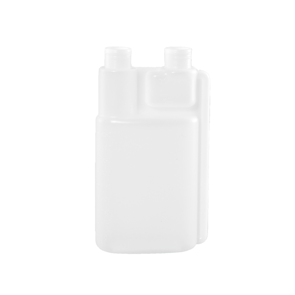16 oz Natural HDPE Plastic Bettix Twin Neck Bottle