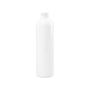 4 oz White HDPE Plastic Bullet Bottle, 24-41