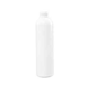 8 oz White PET Plastic Bullet Bottle, 24-410