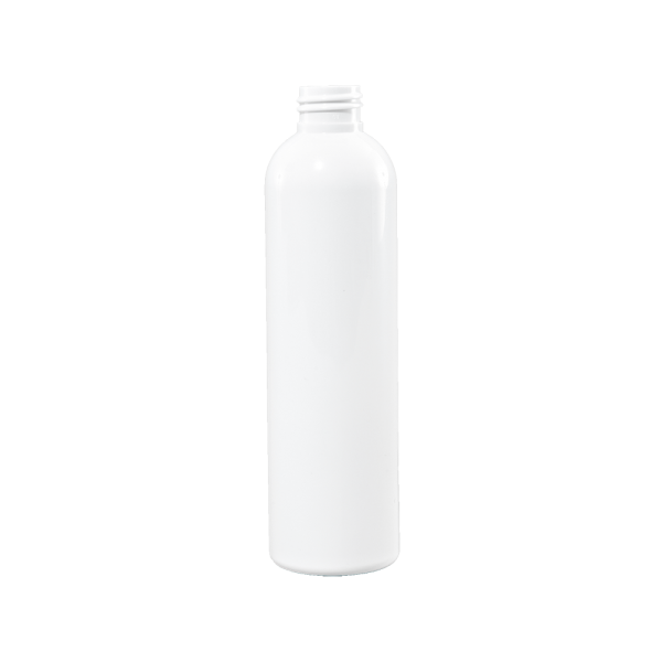 8 oz White PET Plastic Bullet Bottle, 24-410