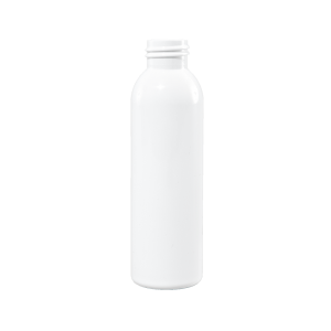 4 oz White PET Plastic Bullet Bottle, 24-410