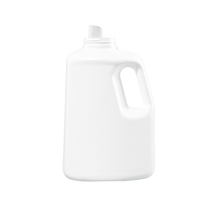 150 oz White HDPE Laundry Drainback Bottle, 70mm