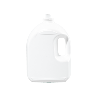3.78 Liter White HDPE Laundry Drainback Bottle, 48mm