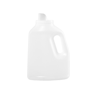 50 oz Natural HDPE Laundry Drainback Bottle, 70mm