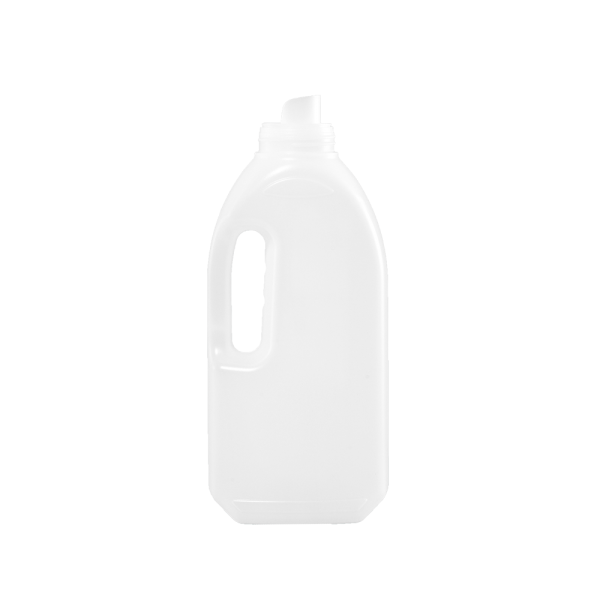 1 Liter Natural HDPE Laundry Drainback Bottle, 51mm