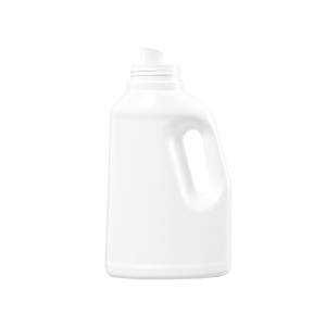 32 oz White HDPE Laundry Drainback Bottle, 51mm
