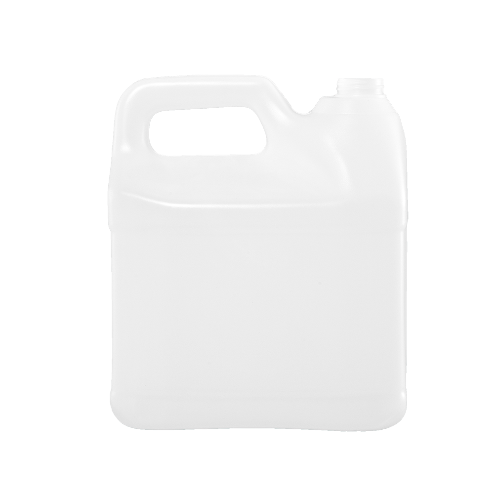 2 Gallon Natural HDPE Squat F-Style Container, 38-400
