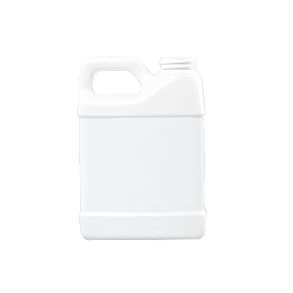 16 oz White HDPE F-Style Container, 33-400