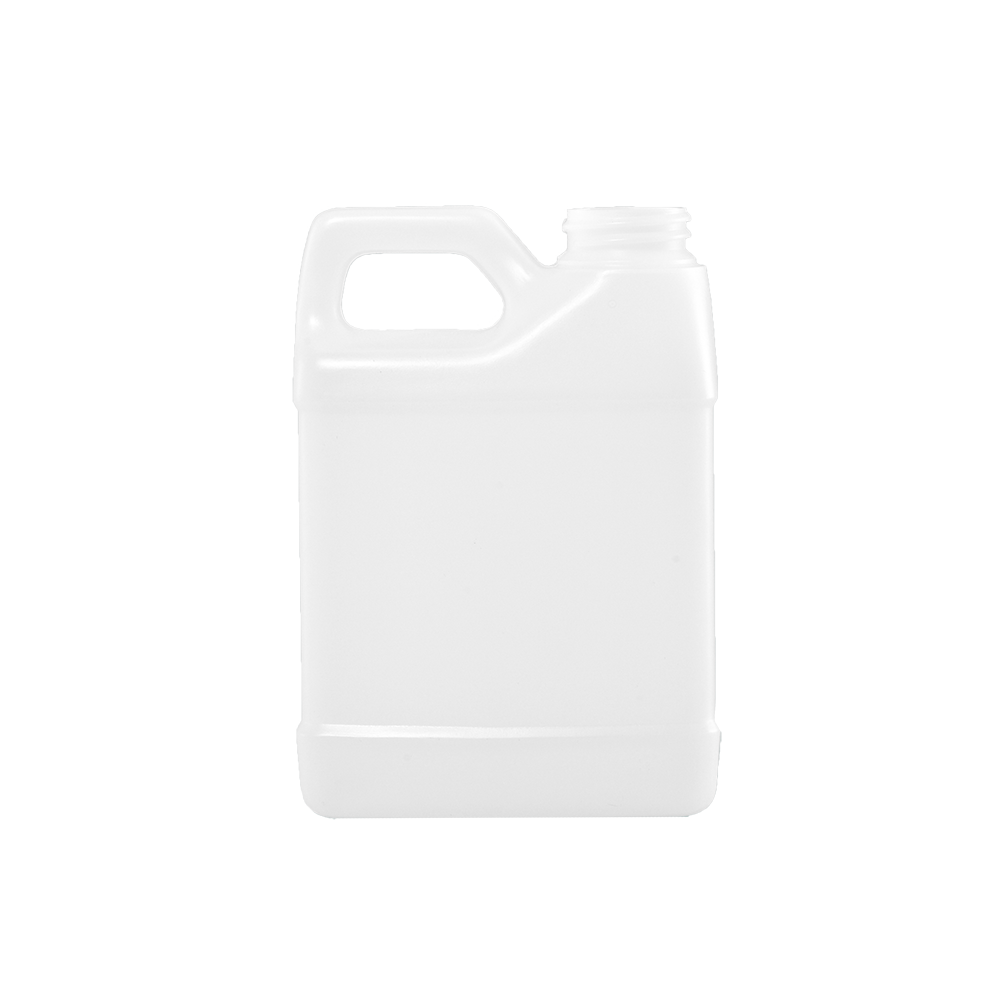 16 oz Natural HDPE F-Style Container, 33-400