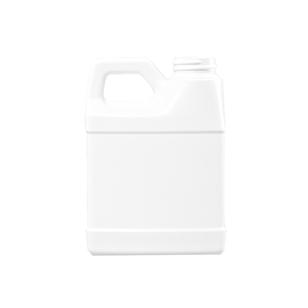 12 oz White HDPE F-Style Container, 33-400