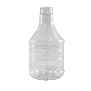 32 oz Clear PET BBQ Decanter Container, 38-400
