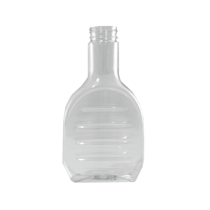 16 oz Clear PET Marinade Oblong Bottle, 38-400