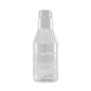 16 oz Clear PET BBQ Fluted Decanter Container, 38-400
