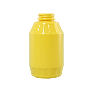 24 oz Yellow HDPE Mustard Barrel Container, 38-400