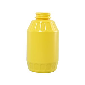 16 oz Yellow HDPE Mustard Barrel Container, 38-400