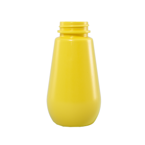 9 oz Yellow HDPE Tear-Drop Mustard Barrel Container, 38-400