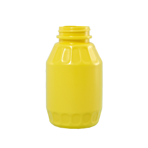 8 oz Yellow HDPE Mustard Barrel Container, 38-400