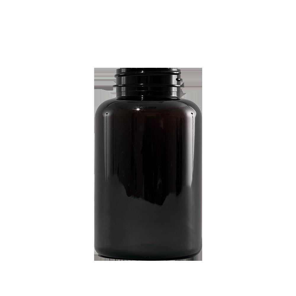 300 cc Amber PET Plastic Packer Bottle, 45-400