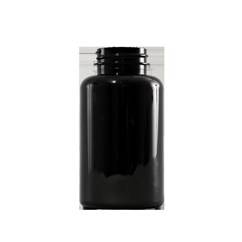 200 cc Amber PET Plastic Packer Bottle, 38-400
