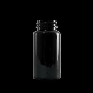 150 cc Black PET Plastic Packer Bottle, 38-400