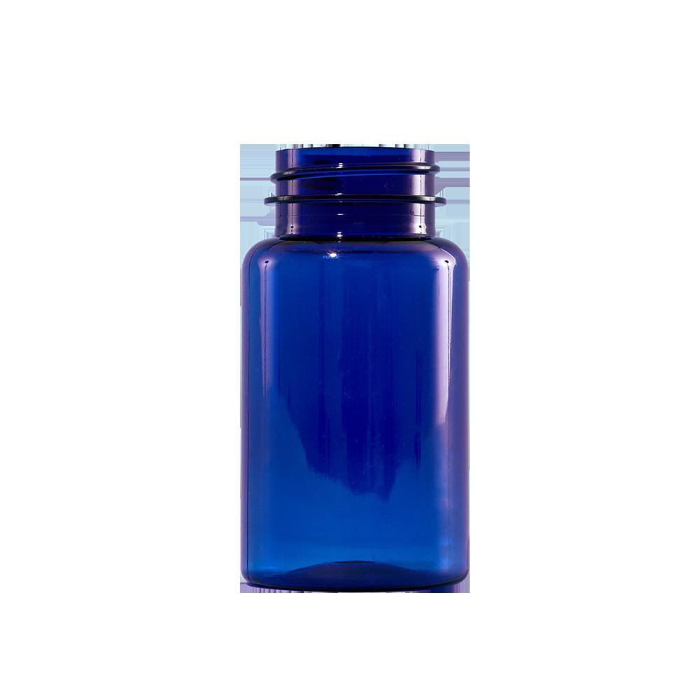 120 cc Cobalt Blue PET Plastic Packer Bottle, 38-400