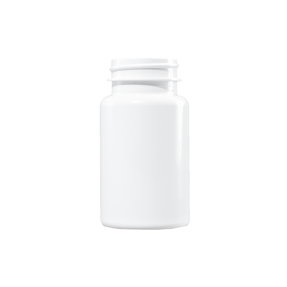 100 cc White PET Plastic Packer Bottle, 38-400