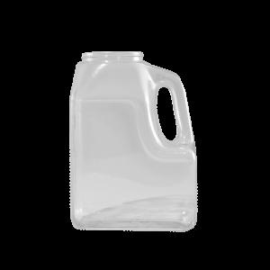 64 oz. Clear Food Grade PVC Plastic Slant Handle Container, 110-400