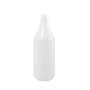 32 oz. Natural HDPE Plastic Round Trigger Sprayer Bottle, 28-400