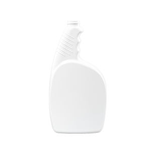 24 oz. White HDPE Plastic Pistol Grip Trigger Sprayer Bottle, 28-400
