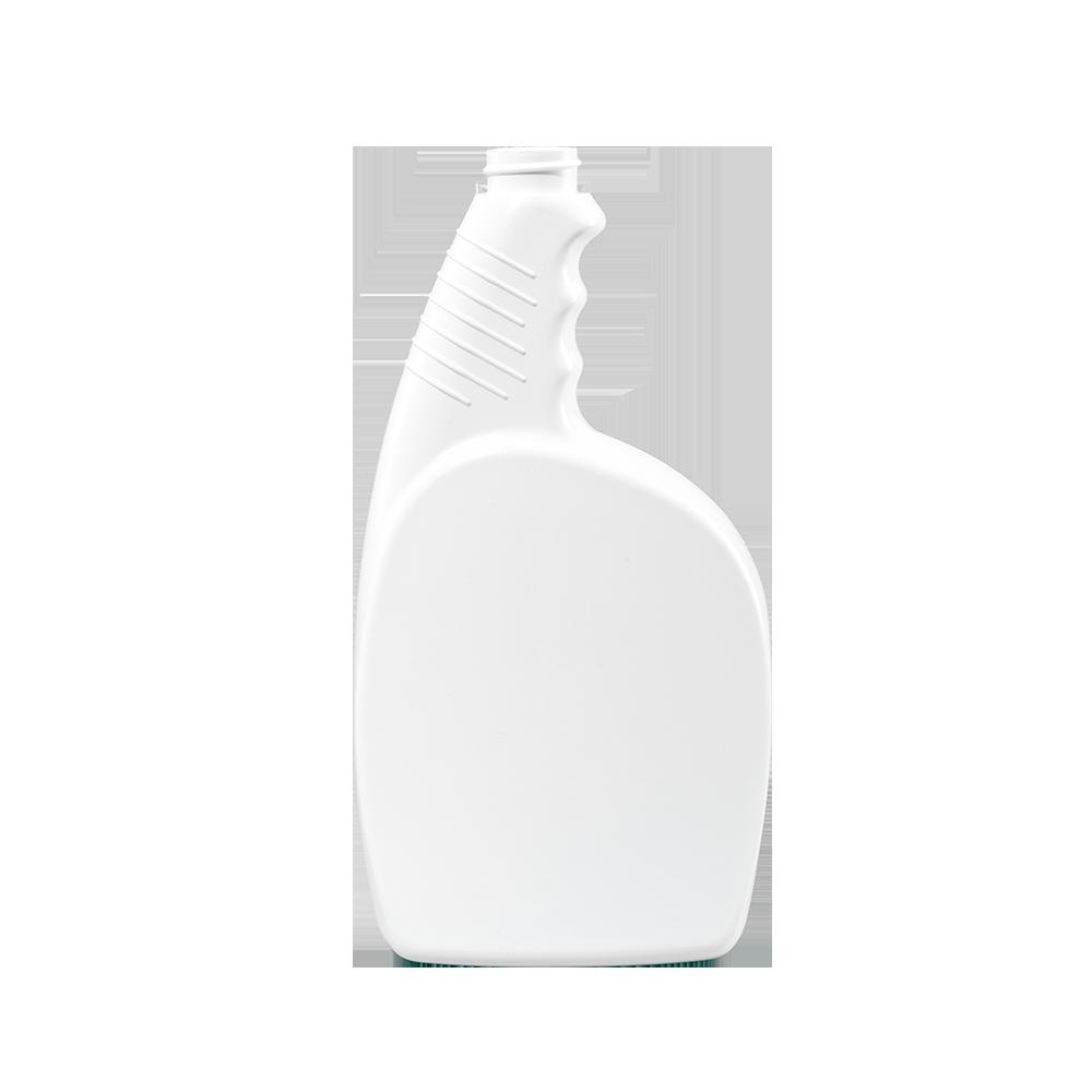 24 oz. White HDPE Plastic Pistol Grip Trigger Sprayer Bottle, 28-400