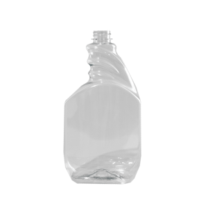 32 oz. Clear PET Plastic Pistol Grip Trigger Sprayer Bottle, 28-400 Ratchet