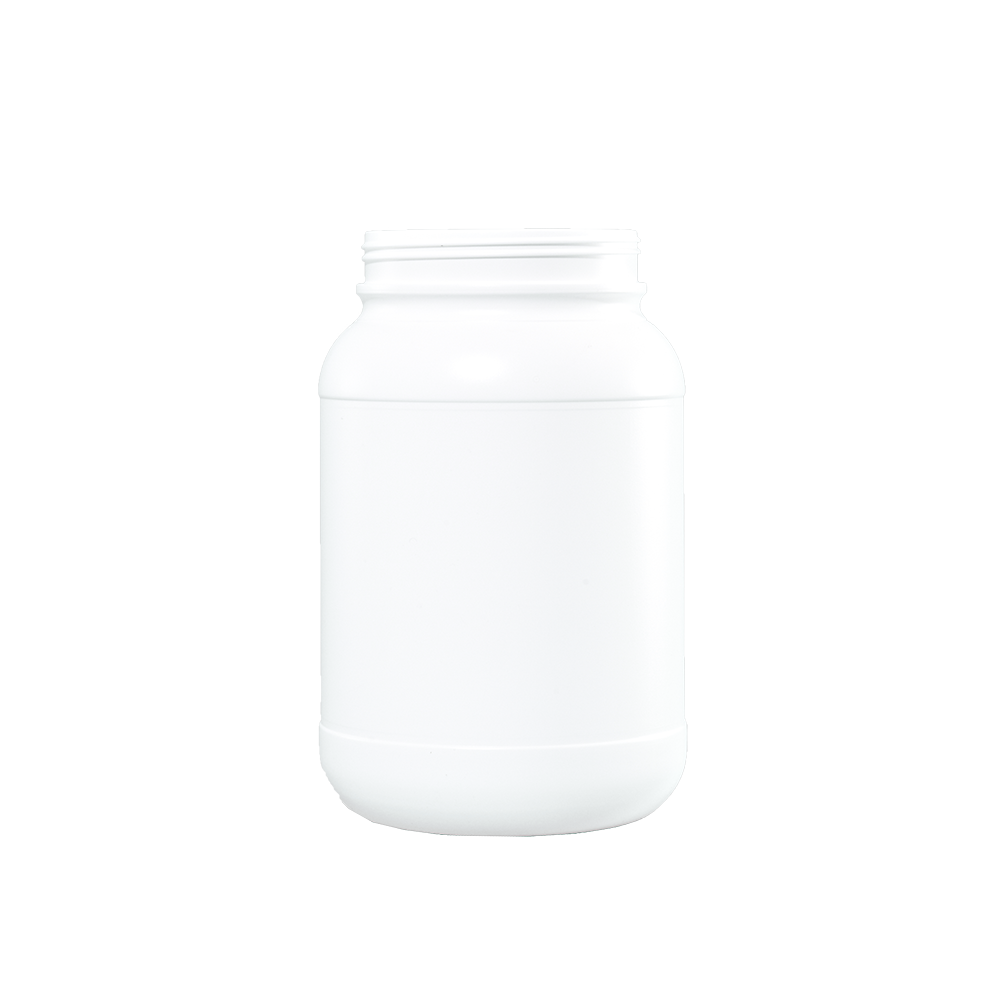 1 Gallon White HDPE Plastic Wide Mouth Container, 120mm