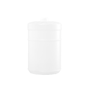 1 Gallon Natural HDPE Plastic Wide Mouth Container, 38-400