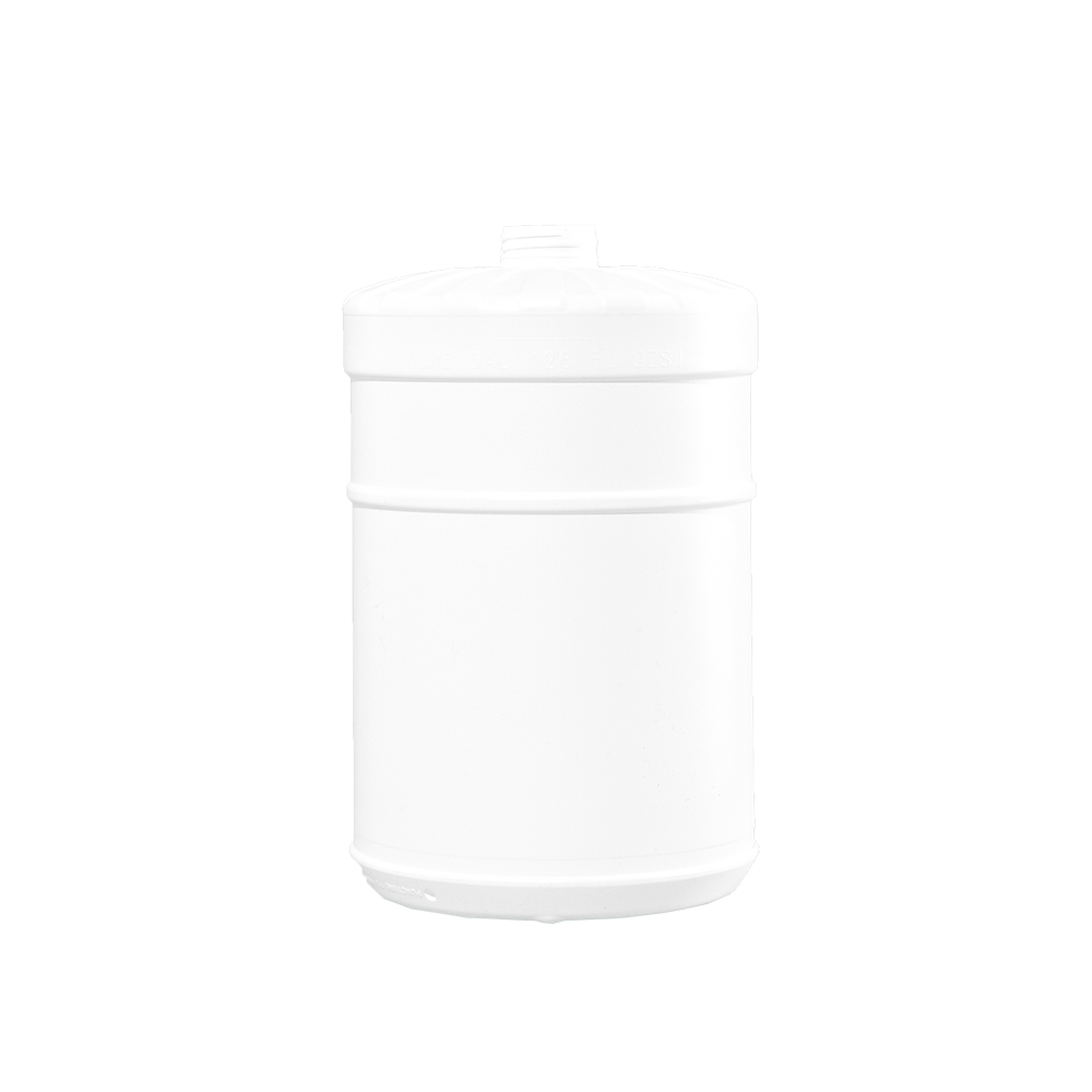 1 Gallon White HDPE Plastic Wide Mouth Container, 38-400