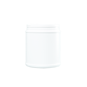 55 oz White HDPE Plastic Wide Mouth Container, 120mm
