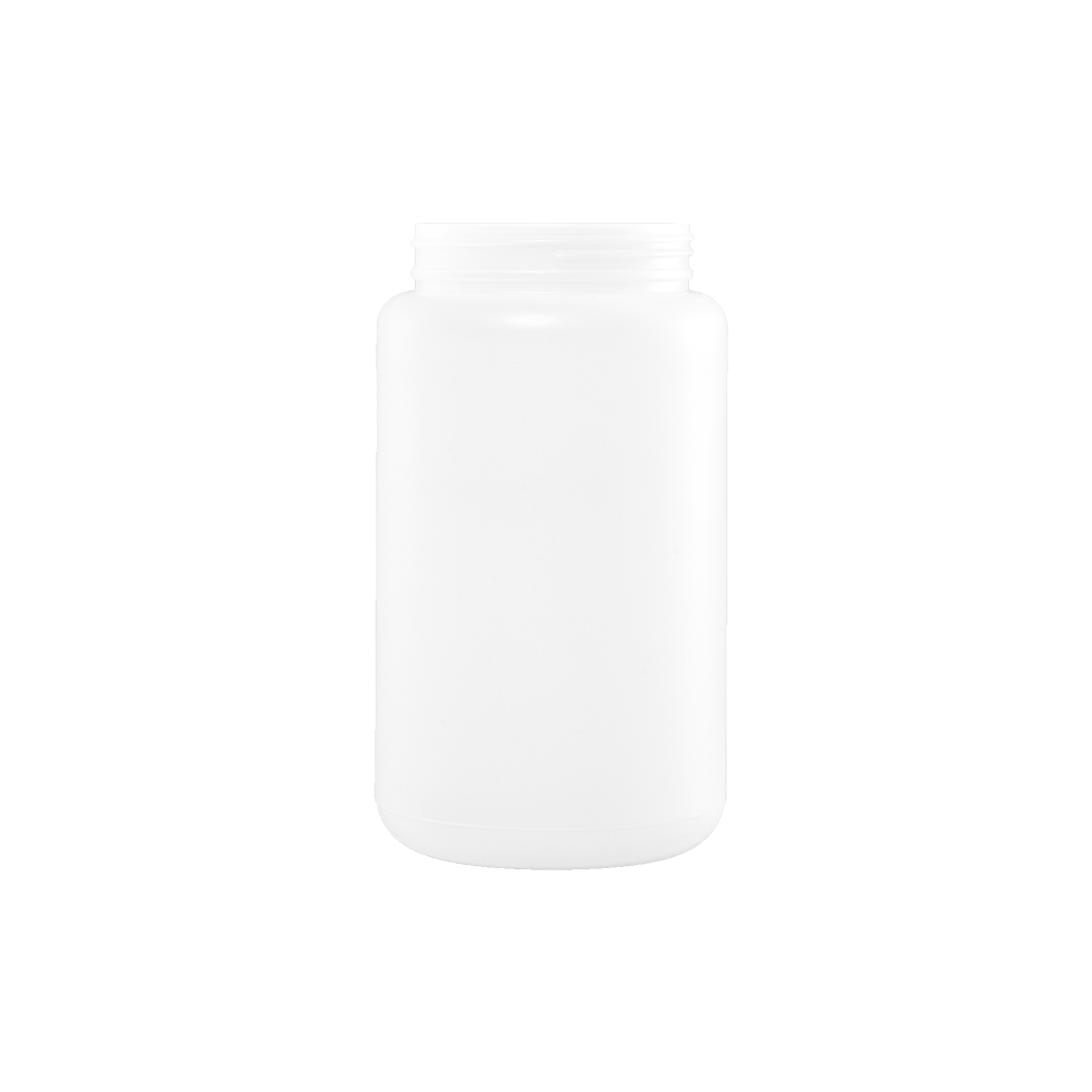 2000 cc Natural HDPE Plastic Wide Mouth Container, 100-400