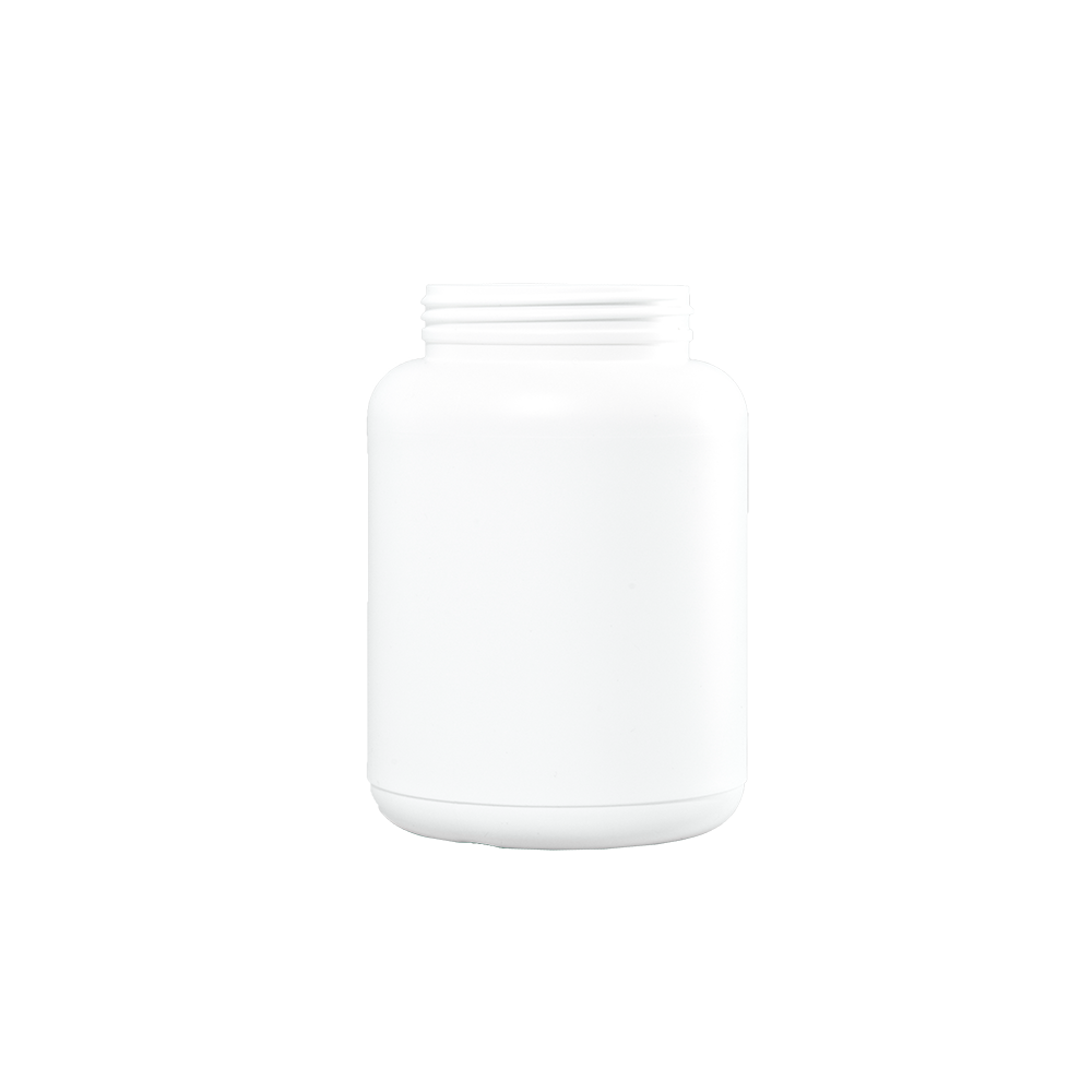 1500 cc White HDPE Plastic Wide Mouth Container, 89-400